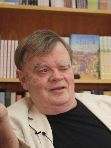 In this July 26 photo, Garrison Keillor, creator and