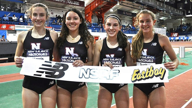 National DMR champions Alex Harris, Sofia Housman, Haleigh Morales and Katelyn Tuohy