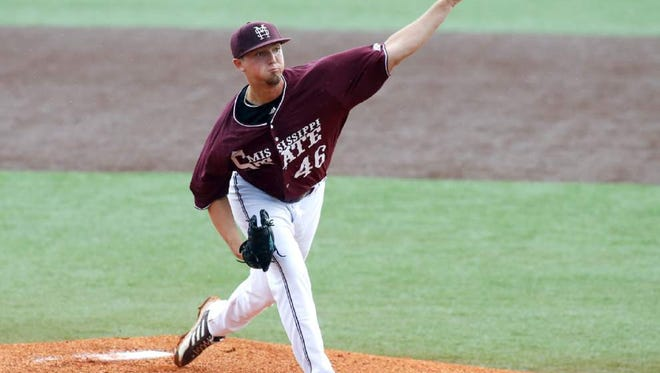 Mississippi State pitcher Lucas Laster