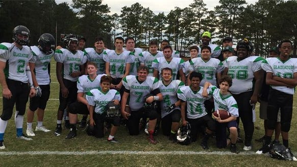 The Carolina Gladiators football team.