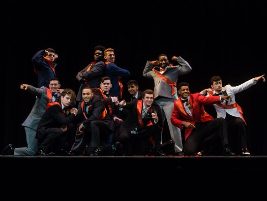 Contestants perform during Mr. Vineland at Vineland