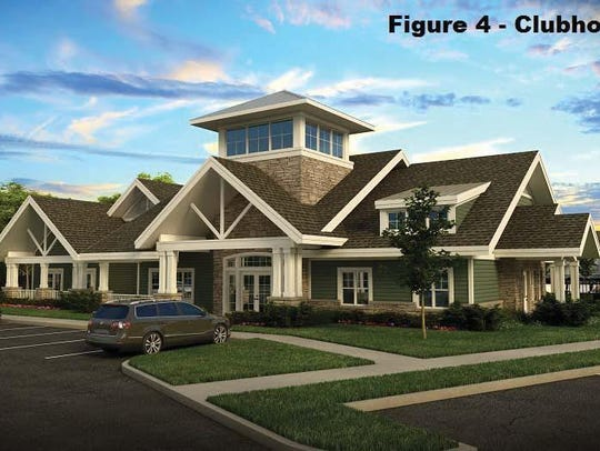 Planned clubhouse for Willoughby Estates, Delhi Township.