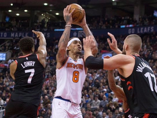 Michael Beasley was one of the Knicks' most consistent scorers in the first half of the season. His production has since dropped off.