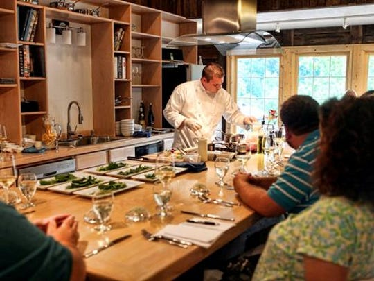 Here is a scene from a previous Chef's Table Dinner.