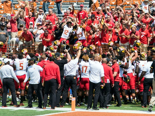 Maryland celebrates at Texas' expense after spoiling