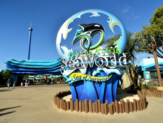 SeaWorld's 50th Celebration, featuring a Sea of Surprises, officially kicks off March 21 and continues for 18 months at all three SeaWorld parks.