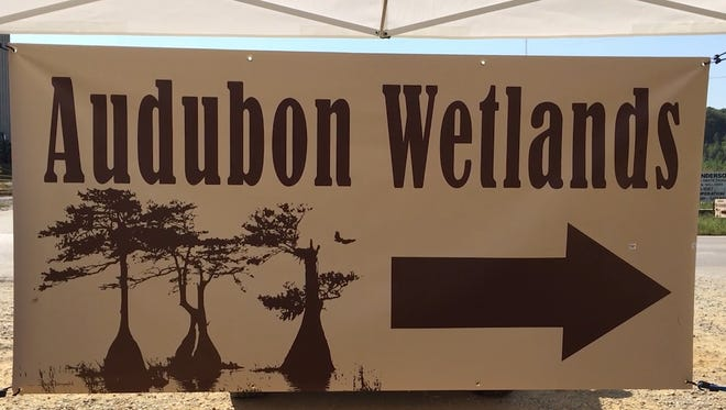 Sign for Audubon Wetlands