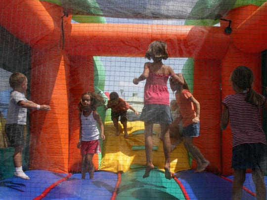 Artful Gardens is having a Family Day on Saturday that includes a bounce house.