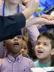 Welcome Elementary kindergartners Kenderious Richardson,