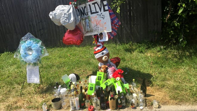 A memorial was erected in Ypsilanti in memory of Keandre Duff, who was killed July 12 in what police say was a retaliation shooting.