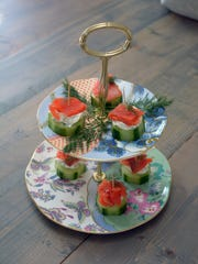 Smoked salmon and cucumber bites are a delicious way to get the party started.