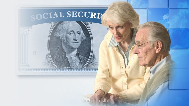 Social security concept illustration shown.