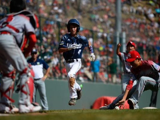 At the bottom of the first inning in today's Little League World Series title game in Williamsport, Red Land was ahead of a Japanese team 10-2.