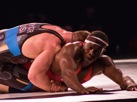 Kyven Gadson, a former Iowa State All-American wrestler, competed in USA Wrestling's Final X on Saturday, June 9, in Lincoln, Nebraska. Gadson lost to Kyle Snyder, two matches to zero, at 97 kilograms.