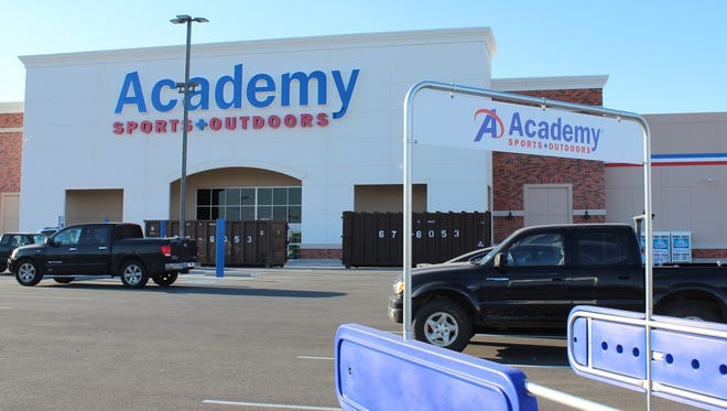Academy was scheduled to open its new store in the Shops at Abilene Village on Saturday.