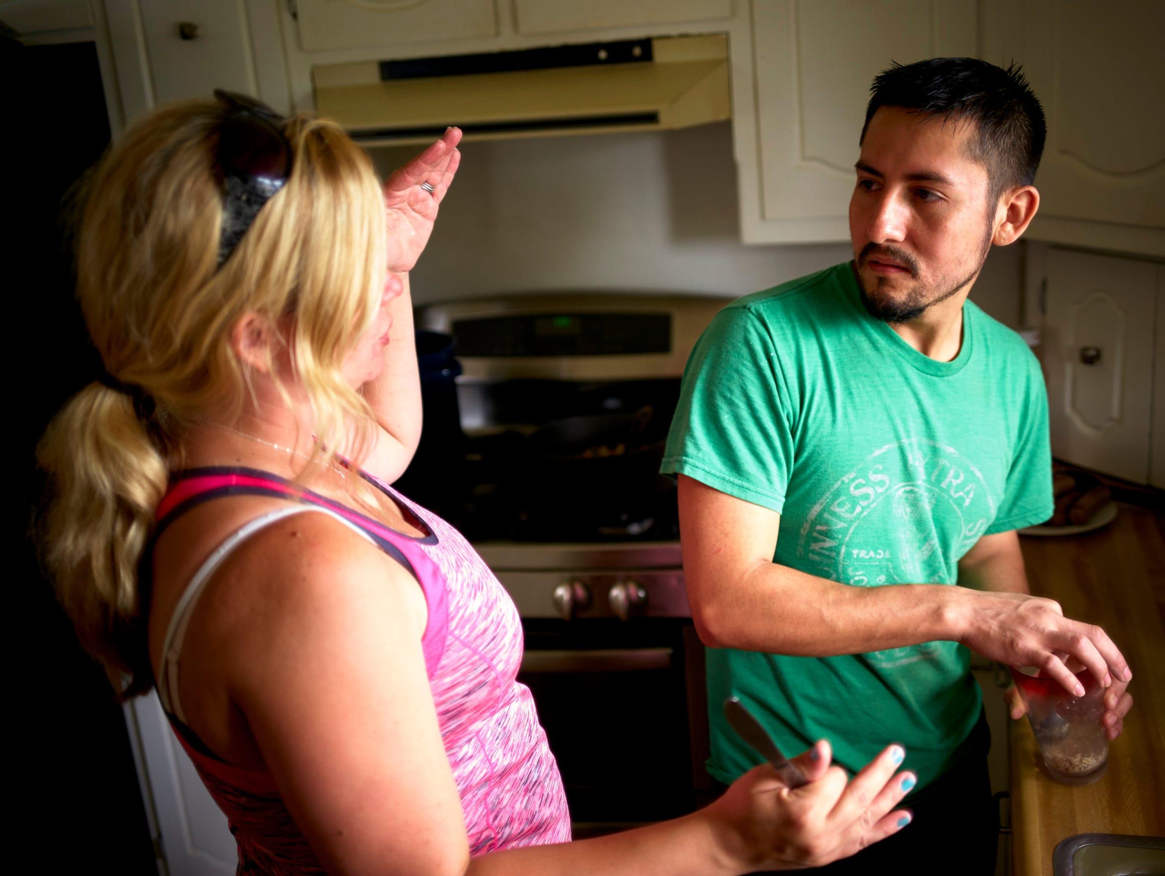 Together, Manuel Estrada and his wife, Jennifer, organize