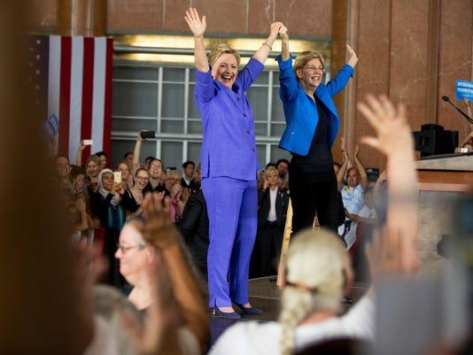 Hillary Clinton,Elizabeth Warren