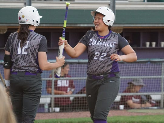 University of Evansville senior Hayli Scott leads the Aces with a .310 batting average this season.