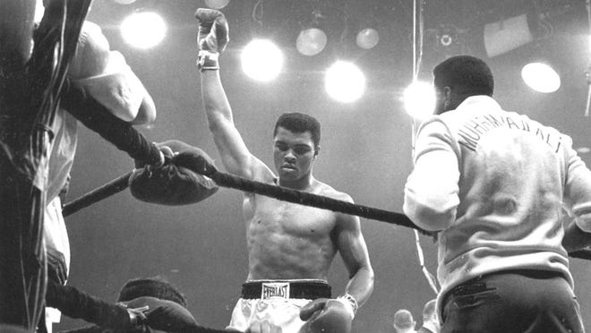 Cassius Clay in Sept. 1960 during the Olympics in Rome, Italy where he won the Gold Medal.