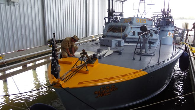 On a recent Friday afternoon on New Orleans' Lake Pontchartrain, PT-305 sat quietly in her boathouse, not giving any inclination as to what she saw in the Mediterranean during World War II, for which she was commissioned in December 1943 and tested on the very same lake more than 70 years ago.