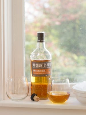 Auchentoshan is single malt unpeated Scotch. The malt of an upeated Scotch is dried using hot air for dying not a peat fire, so there is little to no smoky flavor.