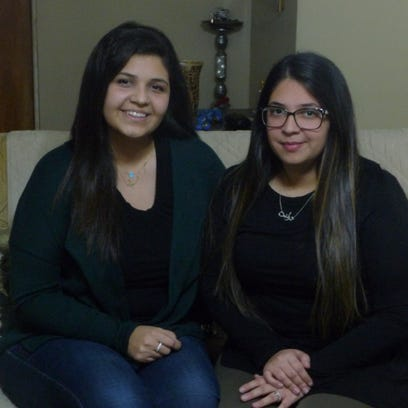 Two Haledon sisters, Sarah and Tolene Abaza, went on