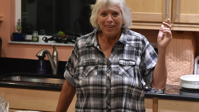 Linda Gausten monitors her race against John Carvelli for the Port St. Lucie City Council District 2, on Tuesday, Nov. 8, 2016, from her home in Port St. Lucie.
