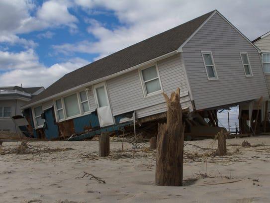 Damage done to Long Beach Island by Hurricane Sandy.