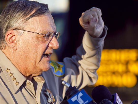Then-Maricopa County Sheriff Joe Arpaio answers questions