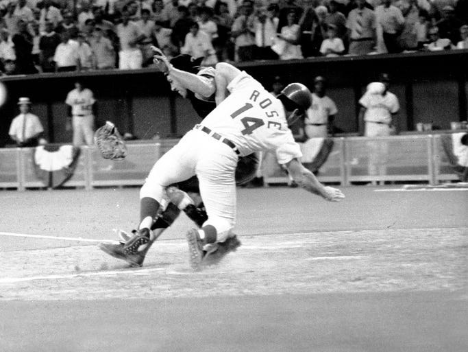 The MLB rules committee is considering banning collisions at home plate between the catcher and baserunner. A look back some of the noteworthy collisions at home and catchers who were placed on the DL with a concussion: Pete Rose collided with catcher Ray Fosse during the 1970 All-Star game in Cincinnati.