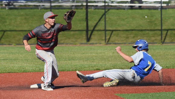 Scenes from the Class C regional final baseball game