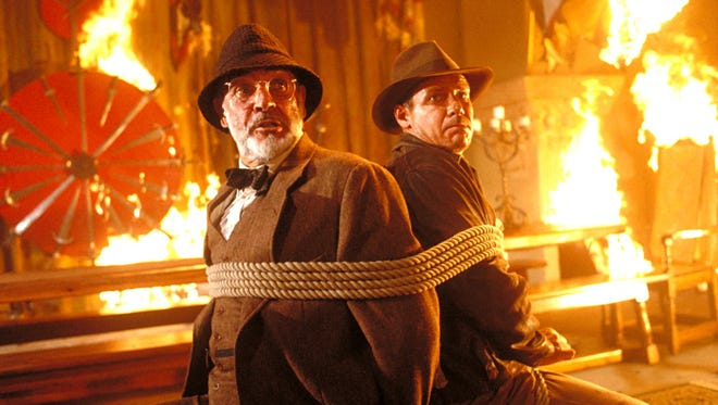 "Sean Connery and Harrison Ford face a fiery fate as ""Indiana Jones and the Last Crusade"" returns to the (really) big screen at the CTI theater at the Memphis Pink Palace Museum."