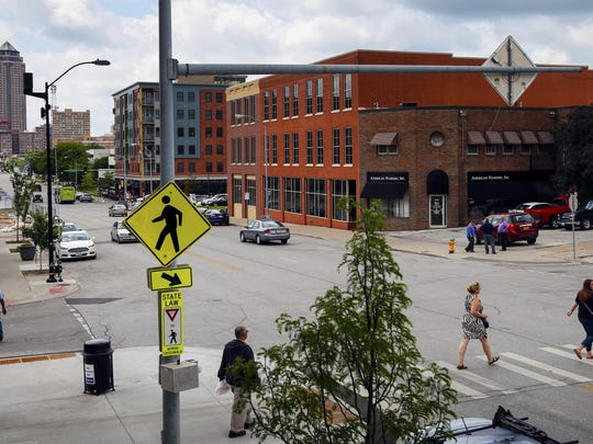Mike Draper wants the city to better mark the cross walk outside of Raygun at East Fifth Street and East Grand Avenue.
