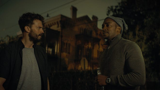 "Jamie Dornan and Anthony Mackie play New Orleans paramedics in ""Synchronic."""