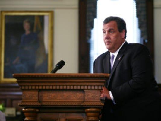 Gov. Chris Christie addressing both houses of the Legislature about bail reform. (Photo courtesy of Tim Larsen/Governor's Office)