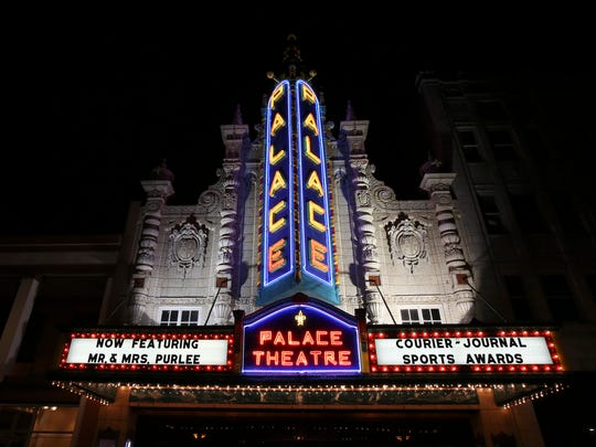The Louisville Palace exterior during the CJ Sports