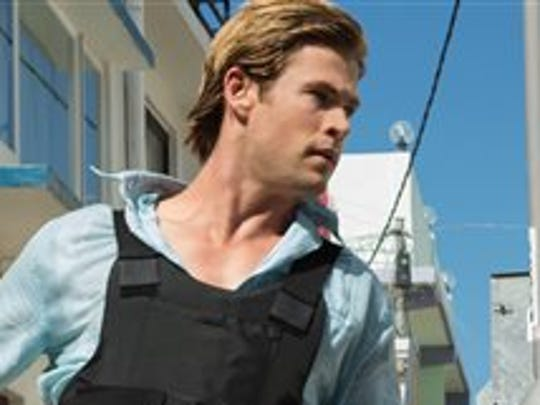 In Blackhat, Chris Hemsworth is Nicholas Hathaway, an imprisoned computer hacker recruited by American and Chines authorities to stop a cyber-criminal.