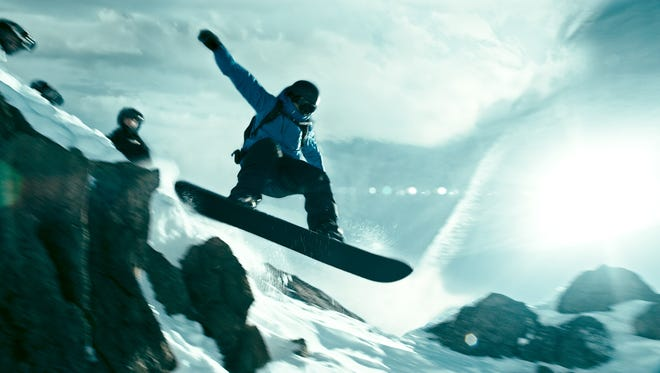 The snowboarding in the new 'Point Break' was intense.