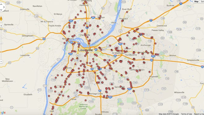 The Courier-Journal - Locations for early edition of Thanksgiving newspaper.