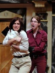 Natalia Razak Wallace as Rutland and Jess Hamlet as