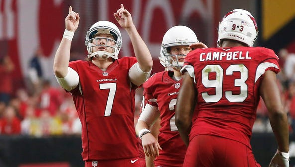 Arizona Cardinals kicker Chandler Catanzaro points