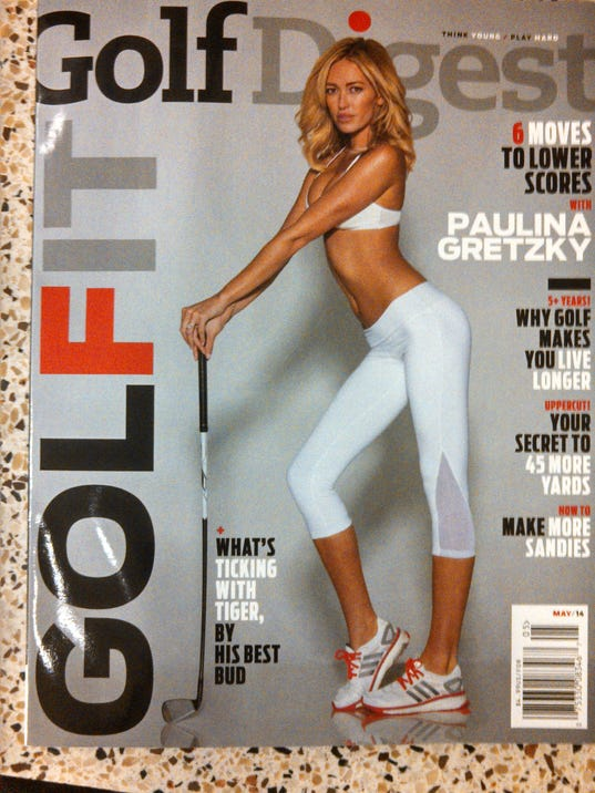 Golf Digest loses skins game with Paulina Gretzky cover photo Golf Digest