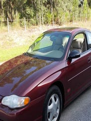 Police are looking for this  2001 Maroon Chevrolet