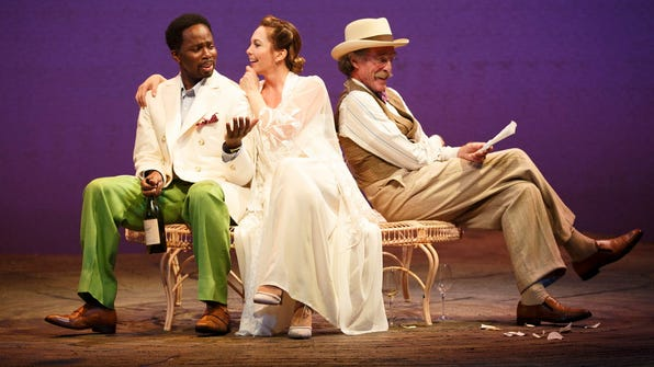 "Harold Perrineau, Diane Lane and John Glover in ""The Cherry Orchard."""