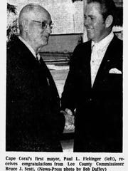 When Paul L. Fickinger was elected mayor in 1970, Cape