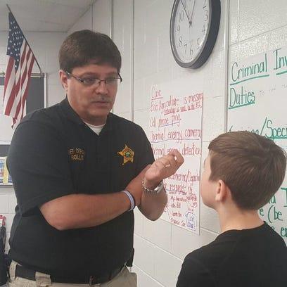 Ross County Sheriff's Chief Deputy T.J. Hollis speaks