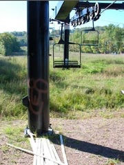 Sometime in September, vandals at Granite Peak Ski Area spray painted obscene drawings on several chair lifts, chairlift towers and support columns.