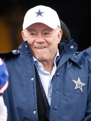 Dallas Cowboys owner Jerry Jones before the game against the Buffalo Bills at Ralph Wilson Stadium. Bills beat the Cowboys 16-6.