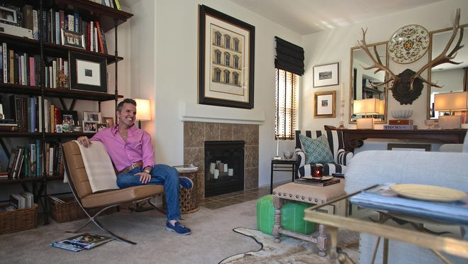 """Interior designer Dann Foley produces luxury outdoor furnishing for Skyline Design after appearing on the television show """"American Dream Builders"""" last year in his Palm Springs home, Tuesday."""