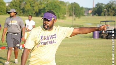 Braves defensive coordinator Cedric Thomas is trying to hold up Alcorn State's defensive standards.